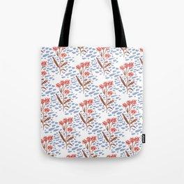 Painted Floral - Periwinkle Tote Bag