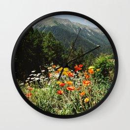 Mountain garden Wall Clock