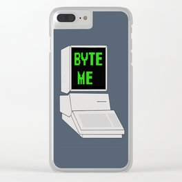 Byte Me Clear iPhone Case