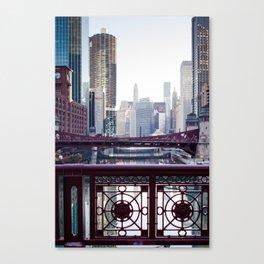 Chicago River Walk Canvas Print