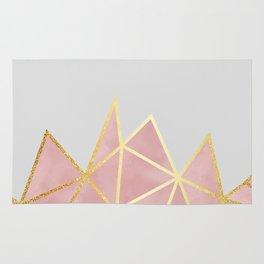 Pink & Gold Geometric Rug