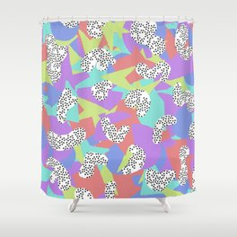 90's Pattern Shower Curtain