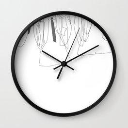 J&P&G&R - B/W Wall Clock