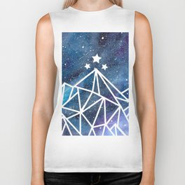 Watercolor galaxy Night Court - ACOTAR inspired Biker Tank