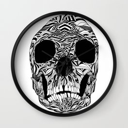 The Carved Skull Wall Clock