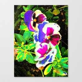 Floral Quasichrome Canvas Print
