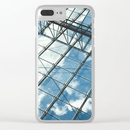 Glass Ceiling VII (Portrait) - Architectural Photography Clear iPhone Case