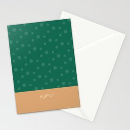 Aubrey - Hunter Green and Tan Stationery Cards