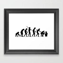 Computer Evolution Framed Art Print