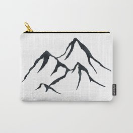 MOUNTAINS Black and White Carry-All Pouch