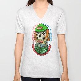 skull boy Unisex V-Neck