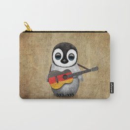 Baby Penguin Playing German Flag Guitar Carry-All Pouch