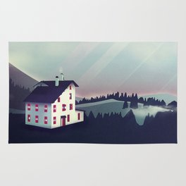 Castle in the Mountains Rug