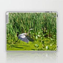 Great Blue Heron Takes Flight Laptop & iPad Skin