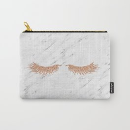 Rose gold marble lash envy Carry-All Pouch