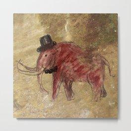 Cave art vintage mamut. Metal Print