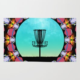 Disc Golf Abstract Basket 6 Rug