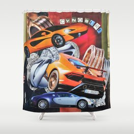 Race Cars Shower Curtains