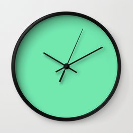 Mint Green Sorbet Ice Cream Gelato Ices Wall Clock