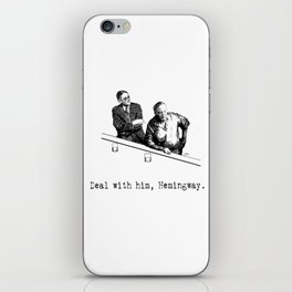 James Joyce x Ernest Hemingway - Drunken Shenanigans Painting iPhone Skin