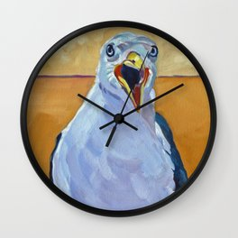 Crying Seagull Wall Clock