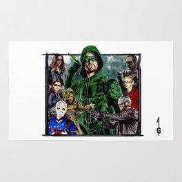 Team ARROW - season 4(Green Arrow,Felicity Smoak,Spartan,OTA) Rug