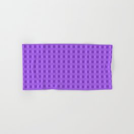 Retro Purple Squares Hand & Bath Towel