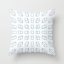 Looking down on life Throw Pillow