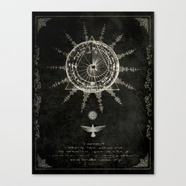 Book of the Sun (akashic records) Canvas Print