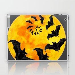 HALLOWEEN BAT INFESTED HAUNTED MOON ART DESIGN Laptop & iPad Skin