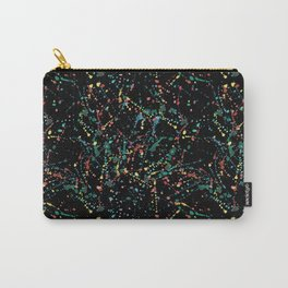 Splat Color Black R Carry-All Pouch