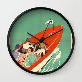 Lake Winnipesaukee - Vintage Poster Wall Clock