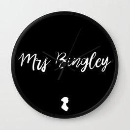 MRS BINGLEY Wall Clock