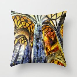 Vienna Cathedral Vincent Van Gogh Throw Pillow