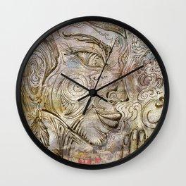 Reflection on  'Second Hand Flood Newz' Wall Clock