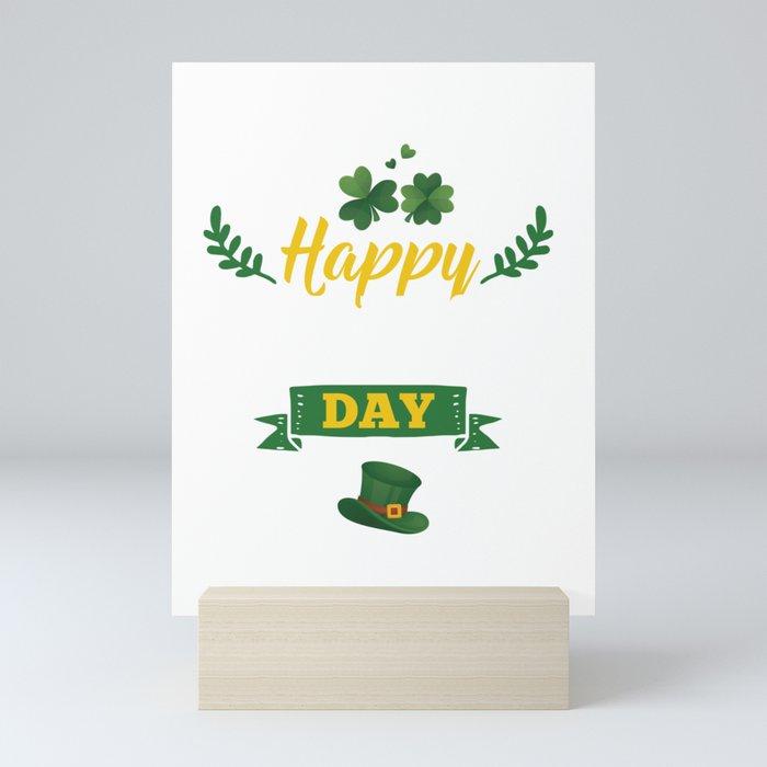 Happy St Patricks Day Leprechaun  Mini Art Print