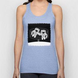 Astronaut black and white Gemini Unisex Tank Top