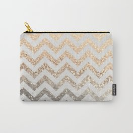 GOLD & SILVER CHEVRON Carry-All Pouch