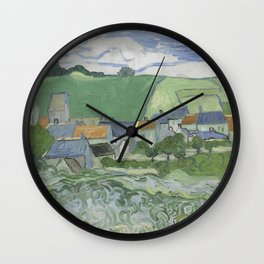 View of Auvers Wall Clock