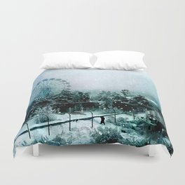 Cold Forest Playground Duvet Cover