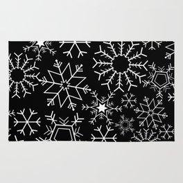 Invert snowflake pattern Rug