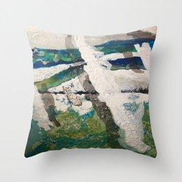Polar Bear Going Home Throw Pillow