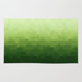 Gradient Pixel Green Rug