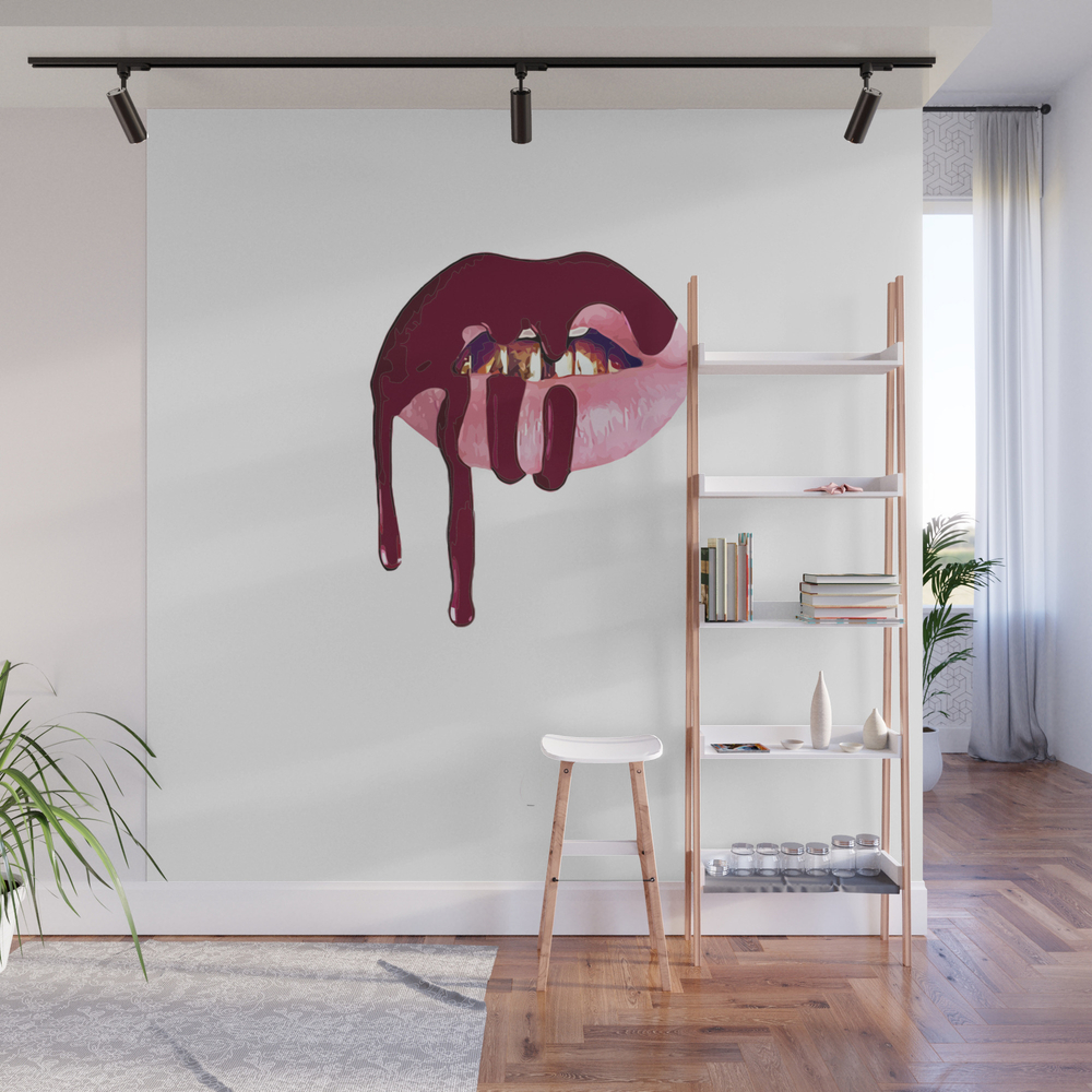 Kylie Jenner Lip Kit Wall Mural by Vortexs WMP8421789