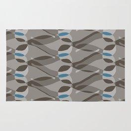 Grey and Blue Paisley Rug