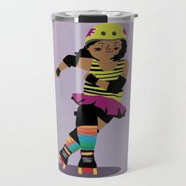 Roller Derby Girl (black skin) Travel Mug