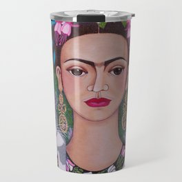 Frida cat lover closer Travel Mug