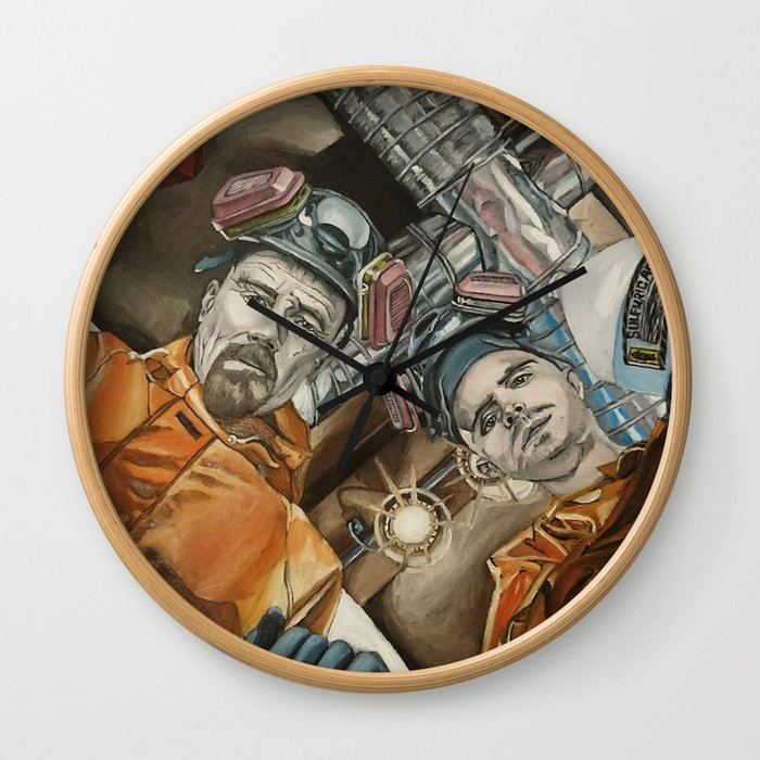 Heisenberg and Jesse, oil painting Wall Clock
