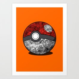 PokeBall Catched All Art Print
