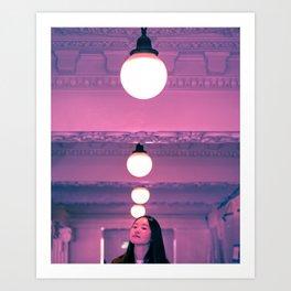 Pop Girl Light Art Print